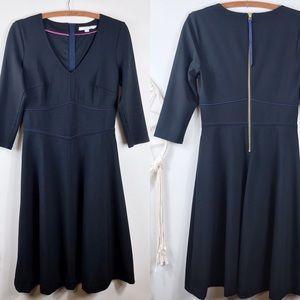 Boden Bryony Ponte Black Dress